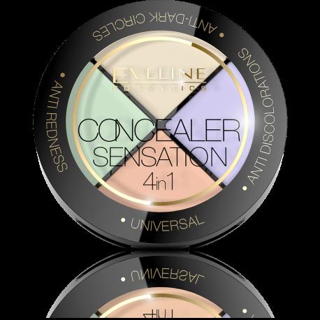 Eveline, Concealer Sensation 4in1 Professional Face Corrector