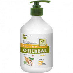 O'Herbal, Soft Gel For Intimate Hygiene, Comfort With Ginseng Extract 500 ml