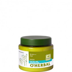 O'herbal, Mask, For Dry And Damaged Hair With Flax Extract, 500ml