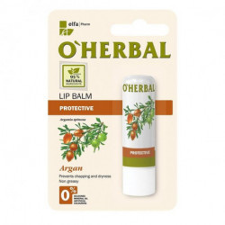 O'herbal, Protective Lip Balm With Argan Oil, 4.8g