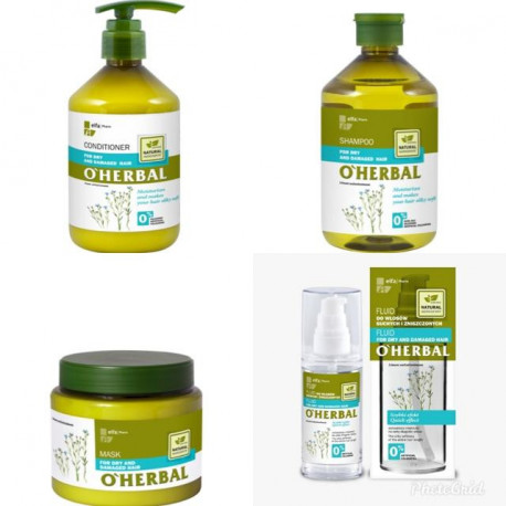 O'herbal,Set For Dry And Damaged Hair