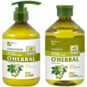 O'herbal, ShampooAnd Conditionner, For Curly And Unruly Hair With Hops Extract, 500ml