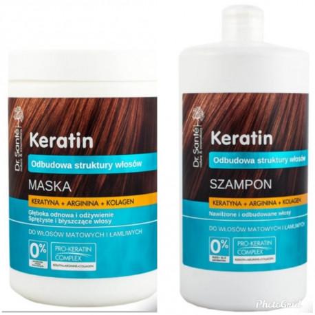 Dr. Sante Keratin, Arginine And Collagen Shampoo And Mask 1000ml