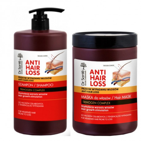 Dr. Sante Anti Hair Loss Shampoo And Mask   1000ml