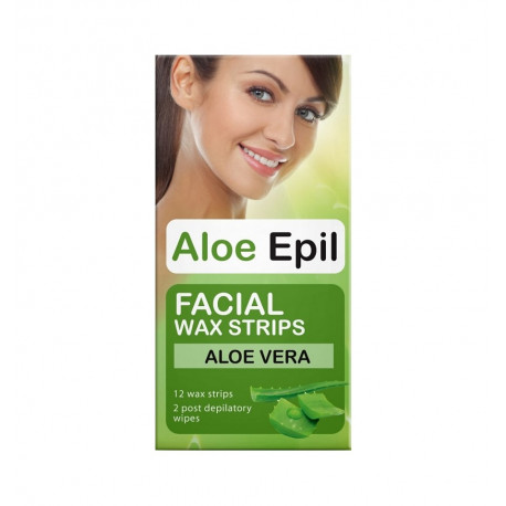 Aloe Epil, Wax Patches For Face Depilation, 12 Pcs.
