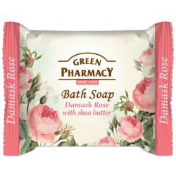 Green Pharmac, Bar Soap, Damask Rose And Shea Butter