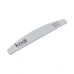 KODI NAIL FILE HALF MOON-131 120/240 (COLOR: LIGHT GRAY, SIZE: 178/28/4)