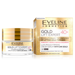 EVELINE, Gold Lift Expert, Luxurious Firming Cream Serum With 24K Gold 40+ Day/Night