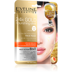 Eveline, Ultra-revitalizing Korean Sheet Mask, 24K Gold Nourishing Elixir