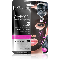 Eveline, Deeply Moisturizing Purifying Mask, Charcoal Illuminating Ritual