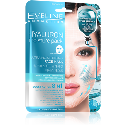 Eveline, Ultra Moisturizing Korean Sheet Mask, Hyaluron Moisture Pack