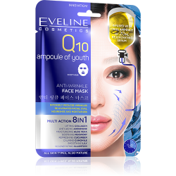EVELINE, Anti-wrinkle Korean Sheet Mask, Q10 Ampoule Of Youth