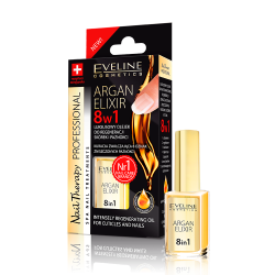 EVELINE, Argan Elixir 8in1 Intensely Regenerating Oil For Cuticles And Nails
